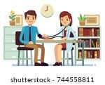 healthcare and medicine vector...   Shutterstock .eps vector #744558811
