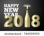 vector new year banner or... | Shutterstock .eps vector #744559555