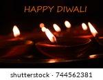 happy diwali  diwali light | Shutterstock . vector #744562381