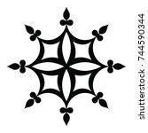 ossetian ornament. ornamental... | Shutterstock .eps vector #744590344