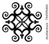 ossetian ornament. ornamental... | Shutterstock .eps vector #744590404