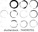 vector frames. circle for image.... | Shutterstock .eps vector #744590701