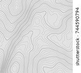 topographic map background... | Shutterstock .eps vector #744590794