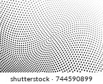 abstract halftone wave dotted... | Shutterstock .eps vector #744590899