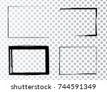 vector frames. rectangles for... | Shutterstock .eps vector #744591349