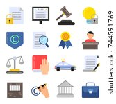copyright legal regulations.... | Shutterstock .eps vector #744591769