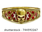 Jewelry Gold Skull Ring Or...