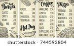 restaurant or cafe menu with...