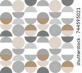 modern vector abstract seamless ...   Shutterstock .eps vector #744595021