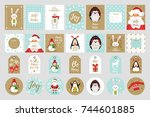 vector cartoon style set of... | Shutterstock .eps vector #744601885