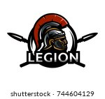 a warrior of rome  a legionary  ... | Shutterstock .eps vector #744604129