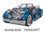 vintage car | Shutterstock .eps vector #744611497