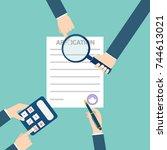 loan application form document...   Shutterstock .eps vector #744613021