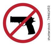 no gun sign   isolated...