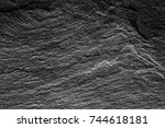 stone abstract black  background | Shutterstock . vector #744618181