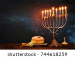 image of jewish holiday... | Shutterstock . vector #744618259