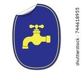 water tap icon. vector...   Shutterstock .eps vector #744618955