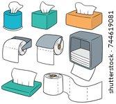 vector set of tissue paper | Shutterstock .eps vector #744619081