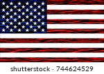 grunge flag of united states.... | Shutterstock .eps vector #744624529
