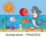 set of sea | Shutterstock .eps vector #74462521