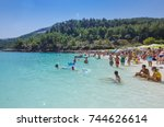 thassos  greece   august 31... | Shutterstock . vector #744626614