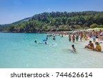thassos  greece   august 31... | Shutterstock . vector #744626614