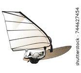 windsurfer | Shutterstock .eps vector #744627454