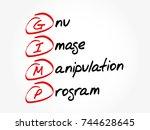 gimp   gnu image manipulation...   Shutterstock .eps vector #744628645