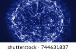 abstract wave background....   Shutterstock . vector #744631837