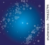 christmas background with white ... | Shutterstock .eps vector #744632794