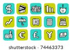 doodle icon set - finance - stock vector