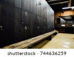 stylish modern comfortable... | Shutterstock . vector #744636259