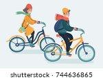 vector cartoon illustration of... | Shutterstock .eps vector #744636865