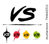 symbol competition vs set.... | Shutterstock .eps vector #744642511