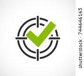 goal reached vector symbol... | Shutterstock .eps vector #744646165