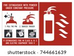 fire extinguisher signs.... | Shutterstock .eps vector #744661639