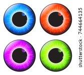 iris eye realistic  vector set ...   Shutterstock .eps vector #744664135