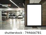 parking garage abri or kiosk... | Shutterstock . vector #744666781