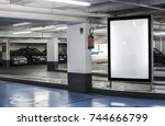 parking garage abri or kiosk... | Shutterstock . vector #744666799