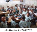 classroom in africa   Shutterstock . vector #7446769