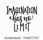 imagination has no limit quote... | Shutterstock .eps vector #744677737
