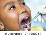 close up macro portrait of cute ...   Shutterstock . vector #744680764