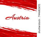 inscription austria on the...   Shutterstock . vector #744682651