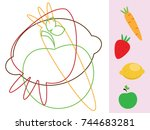 find hidden objects and shapes. ... | Shutterstock .eps vector #744683281