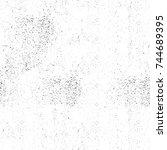 seamless grunge black white.... | Shutterstock . vector #744689395