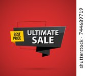 ultimate sale banner template... | Shutterstock .eps vector #744689719