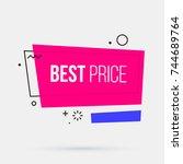 best price banner template in... | Shutterstock .eps vector #744689764