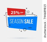 season sale banner template in... | Shutterstock .eps vector #744689815
