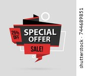 special offer banner template... | Shutterstock .eps vector #744689851
