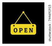 open sign icon vector | Shutterstock .eps vector #744691915